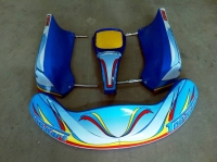 SET CARENATURE  SEMI NUOVI TOP KART CON FERRI COMPETI
